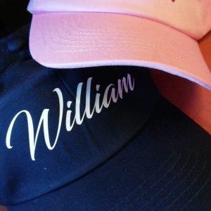 Personalised Name Cap