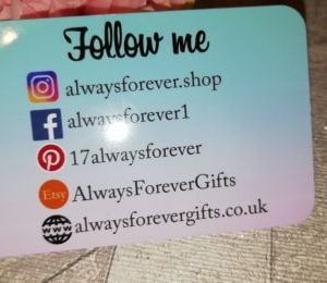 Personalised Social Media Marketing Wallet Card Prop