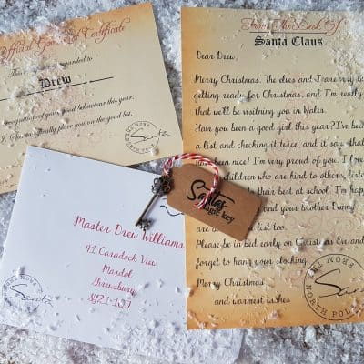 Personalised Santa Letter, Magic Key And Good List Certificate