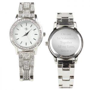 Personalised Diamante Ladies Watch