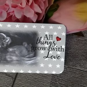 Personalised Aluminium All Things Grow With Love Wallet Card