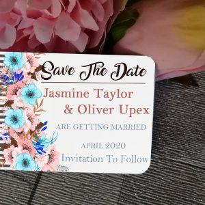 aluminium card save the date