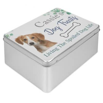 Personalised Dog Treats Tin