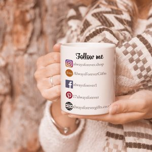 Personalised Social Media Follow Me Mug