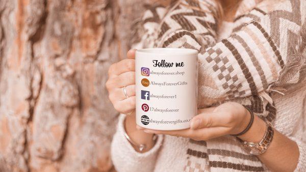 Personalised Social Media Follow Me Mug