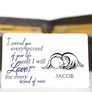 Personalised Aluminium Baby & Infant Loss Remembrance Wallet Card