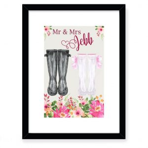 Personalised Wedding Welly Boot Design