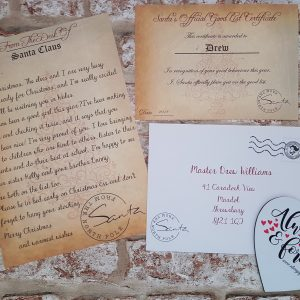 Personalised Santa Letter And Good List Certificate