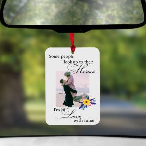 Personalised Some People Look Up To Their Heroes Air Freshener