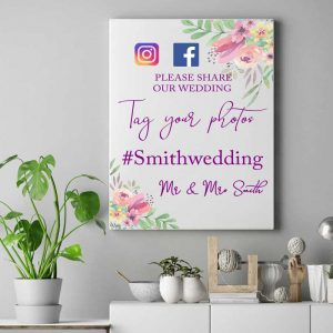 Personalised Tag Your Photo's Wedding Design