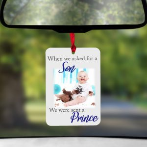 Personalised We Asked For A Son Air Freshener