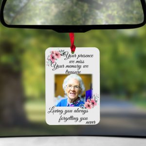 Personalised Your Presence We Miss Air Freshener