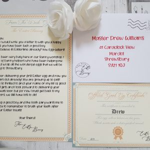 Personalised Easter Bunny Letter & Certificate