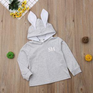 Personalised Rabbit Ears Initial Hoodie