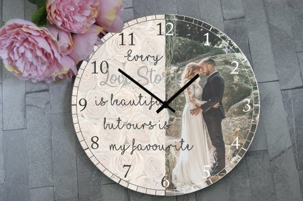 Personalised Every Love Story Wooden Clock