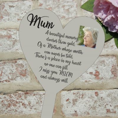 Personalised Miss You Mum Grave/Memorial Marker