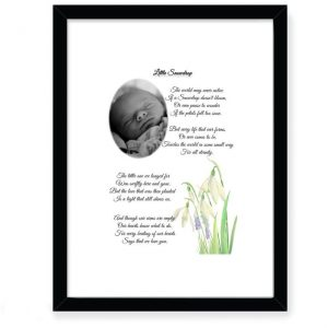 Personalised Baby & Infant Loss Little Snowdrop Design