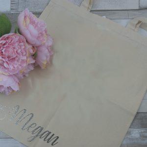 Personalised Name Vinyl Tote Bag