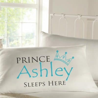 Personalised Sleepy Head Pillow Case - Prince Sleeps Here
