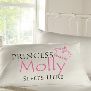 Personalised Sleepy Head Pillow Case - Princess Sleeps Here