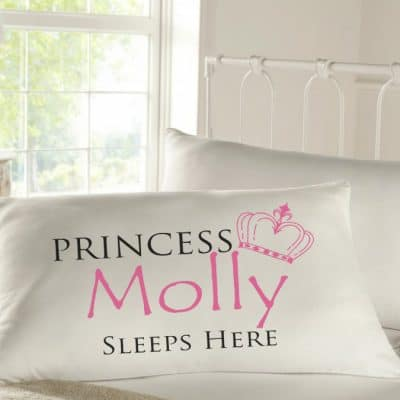 Personalised Sleepy Head Pillow Case - Princess Sleeps Here