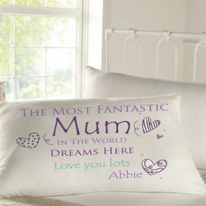 Personalised Sleepy Head Pillow Case - Fantastic Mum