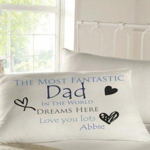 Personalised Sleepy Head Pillow Case - Fantastic Dad