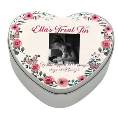 Personalised Heart Nanny Treat Tin