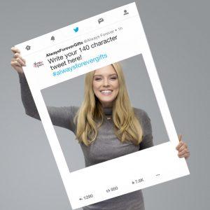 Personalised Twitter Selfie Frame