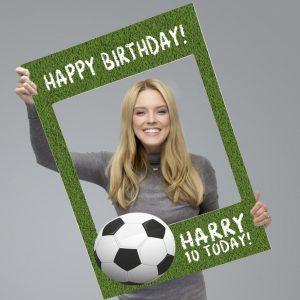 Personalised Football Birthday Selfie Frame