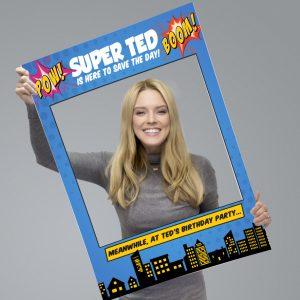 Personalised Super Hero Comic Selfie Frame