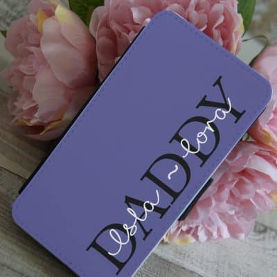 Personalised Daddy PU Leather Phone Flip Case