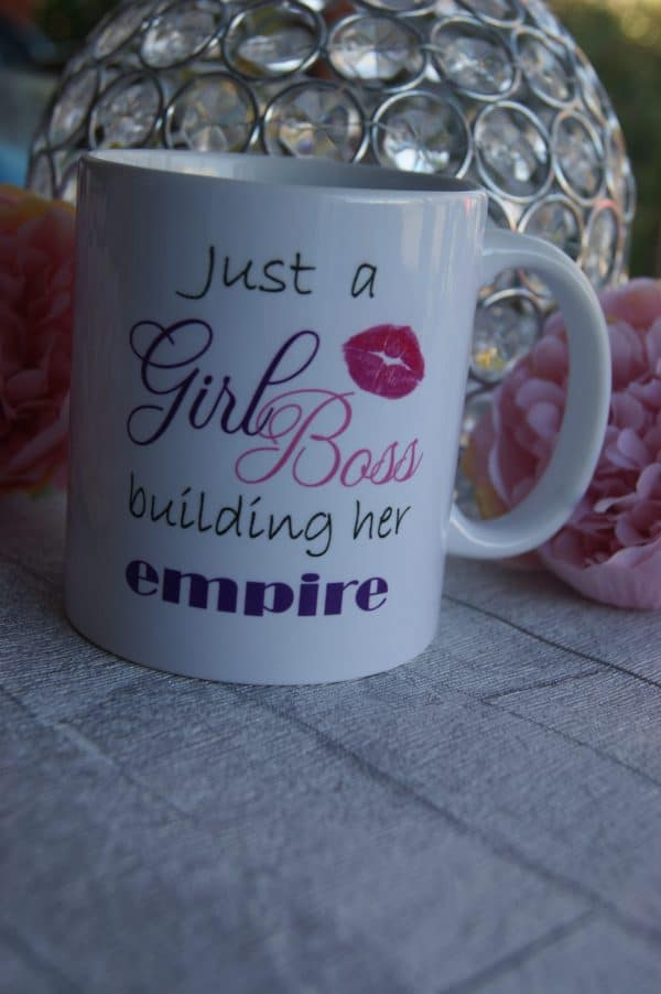 Just A Girl Boss Building Her Empire Full Wrap Mug