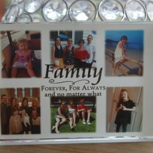 Personalised Family Forever And Always Crystal Block