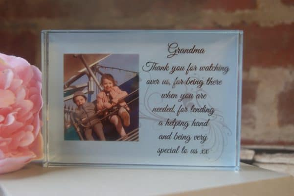 Personalised Any Message Crystal Block