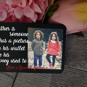 Personalised Aluminium A Father Is Someone Who Wallet Card