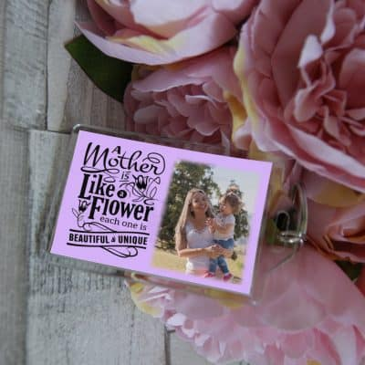Personalised A Mother Is Like A Flower Keyring