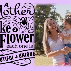 Personalised A Mother Is Like A Flower Crystal Block
