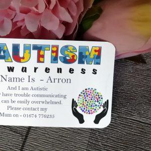 Personalised Aluminium Autism Awareness Wallet Card