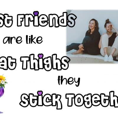 Friends Are Like Fat Thighs Design