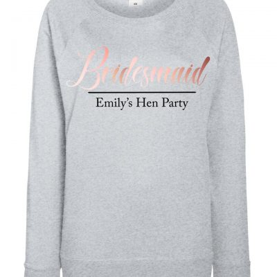 Personalised Adult Bridesmaid Hen Party Jumper