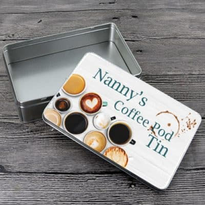 Personalised Coffee Pod Tin