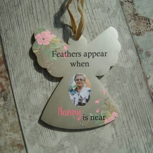 Personalised Feathers Appear Hanging Angel