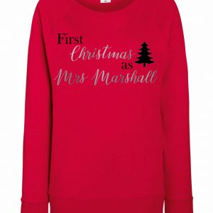 Personalised Adult First Christmas As Mrs Jumper
