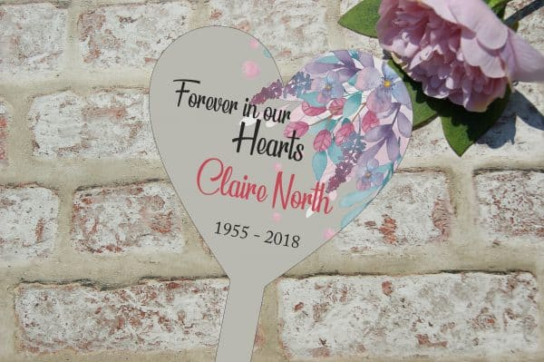 Personalised Forever In Our Hearts Grave/Memorial Marker