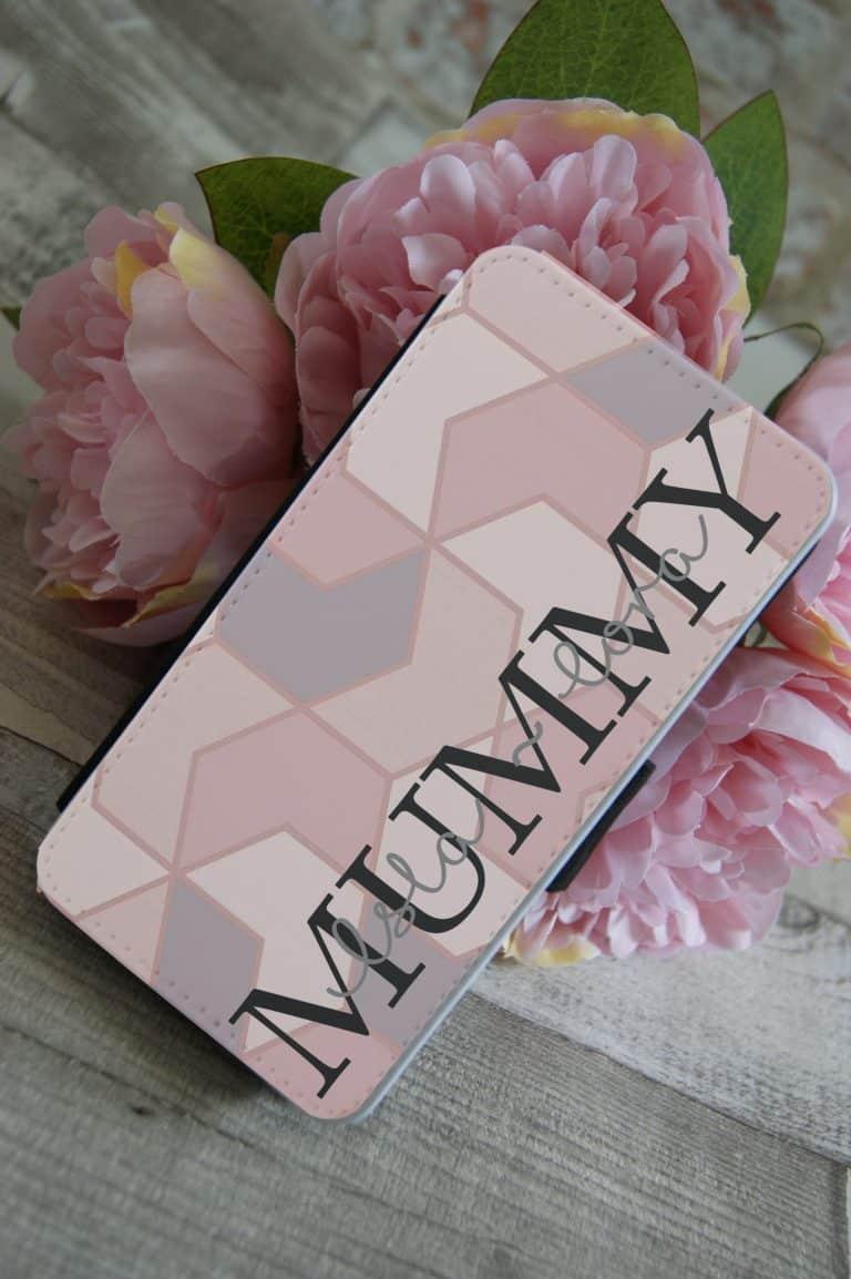 Personalised Mummy PU Leather Phone Flip Case