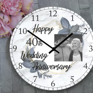 Personalised Wedding Anniversary Clock