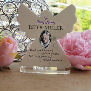 Personalised In Loving Memory Tea Light Angel