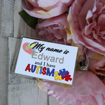 Personalised Autism Keyring
