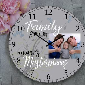 Personalised Family Is One Of Natures Masterpieces Clock